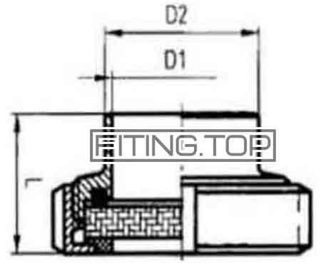 Диоптр плоский нержавеющий AISI 304 (смотровое окно)