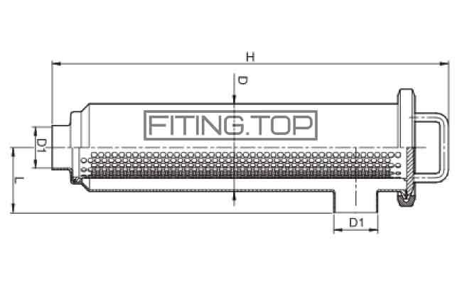 купить Фильтр трубный нержавеющий угловой сварка-сварка AISI304