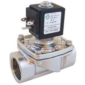 Клапан электромагнитный нержавеющий 2/2-ходовой нормально закрытый комбинированного действия