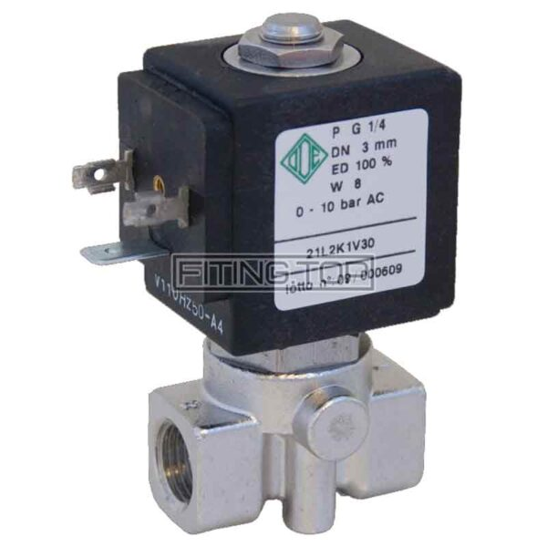 Клапан электромагнитный нержавеющий 2/2-ходовой нормально закрытый прямого действия